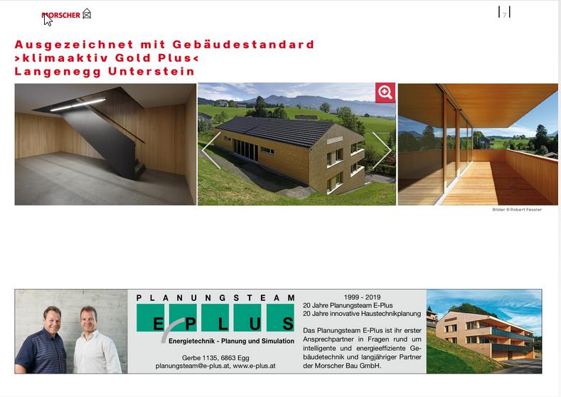 Ausgezeichnet mit Gebäudestandard >klimaaktiv Gold Plus< Langenegg Unterstein
