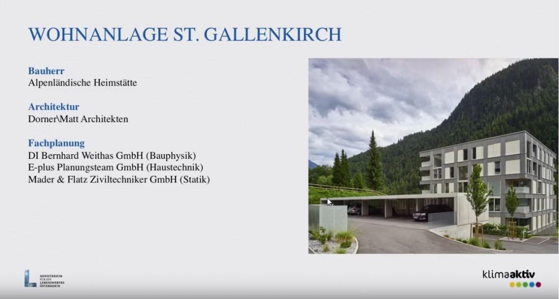 WA St. Gallenkirch - Staatspreis für Architektur und Nachhaltigkeit 2017, Bauherrenpreis 2016 und klimaaktiv-Gold Gütesiegel